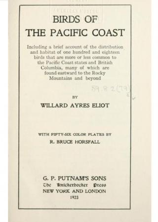 Birds of the Pacific coast