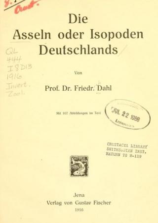 Die Asseln oder Isopoden Deutschlands