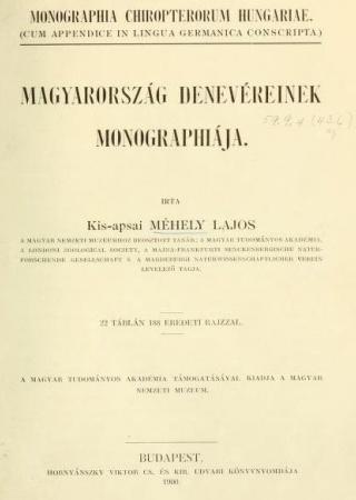 Magyarország denevéreinek monographiája