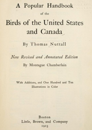 A popular handbook of the birds of the United States and Canada