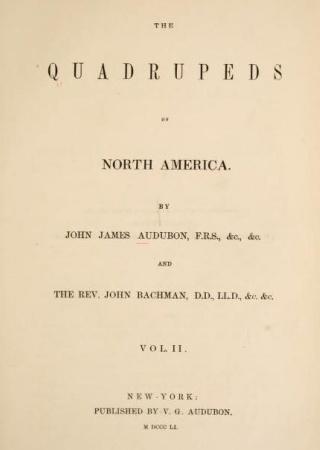 The quadrupeds of North America