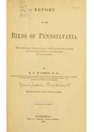 Report on the birds of Pennsylvania