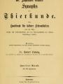 Dr. Johannes Leunis Synopsis der thierkunde