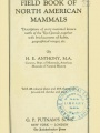 Field book of North American mammals